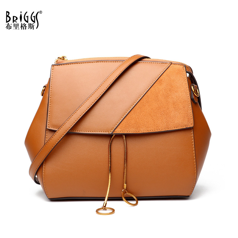 BRIGGS Women Bag Genuine Leather Bag Female Famous Brands Luxury Handbags Women Bags Designer Shoulder Crossbody Messenger Bags sgarr soft leather handbags women famous brands luxury bag designer quality casual lady messenger bag female large shoulder bags