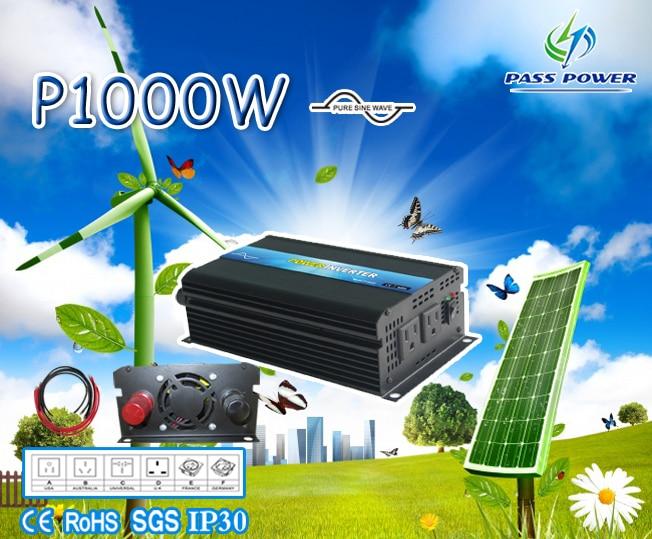 free Shpping! Off-grid Dc12v/24v/48v Ac100v-120v/220v-240v 1000va/1kva Pure Sine Wave Inverter Solar 2019 Fashion Ce&rohs&sgs