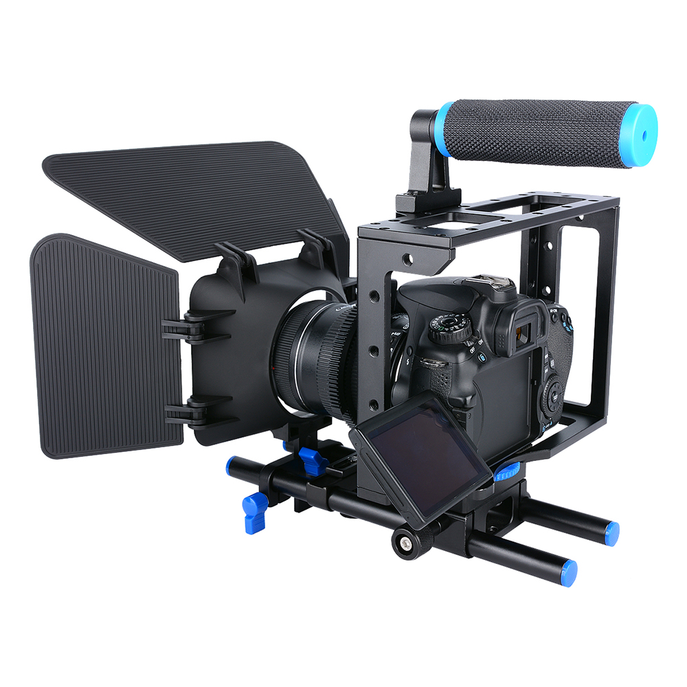 Image 4 - Yelangu DSLR Rig Camera Cage Kit Shoulder Stabilizer System Video Rig For Canon 5D Mark III IV 6D 7D Nikon D7200 Sony A7 GH5 GH4-in Photo Studio Accessories from Consumer Electronics