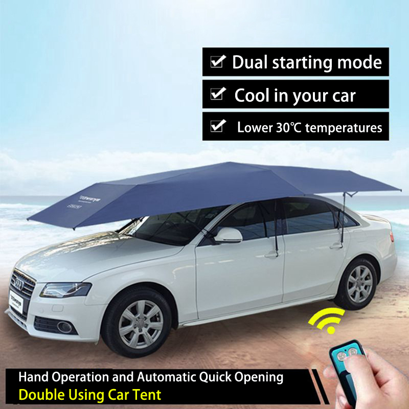 2017 Innovation Sun Shelters Hand Operation and Automatic Quick Opening Double Using Car Tent Sun Shade Awning Shelter Umbrella