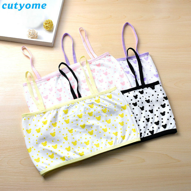 861440c546a6c 4pcs lot Teenage Girl Training Underwear Bras Candy Color Cotton Young Kids  Student Girls Small