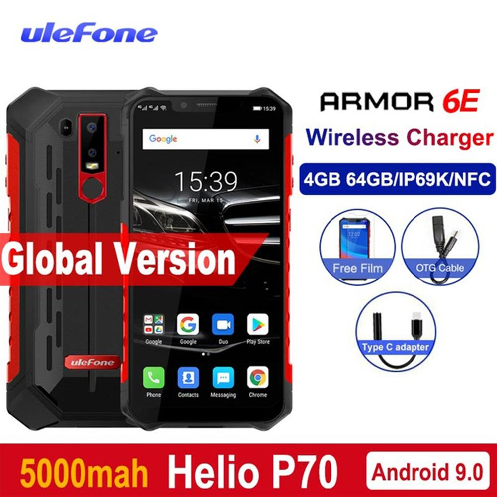 Купить Ulefone Armor 6E IP68 Водонепроницаемые мобильные телефоны 4G + 64G Android 9,0 6,2