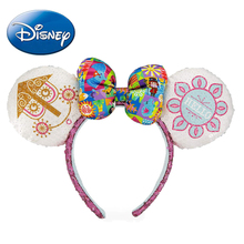 Disney Parks It's a Small World Mickey Minnie Mouse Ears Headband Girls Women Hairband Party Hair-Bands Plush Toy Head Hoop parks a bloody january