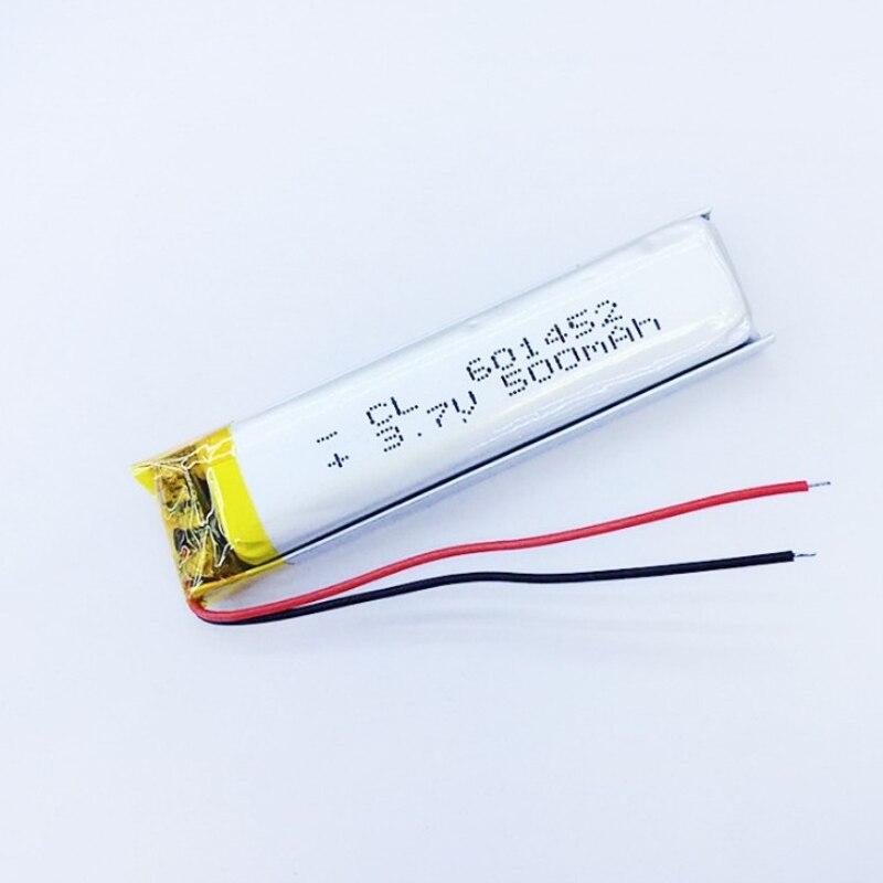 Neue 3,7 V 500 Mah Wiederaufladbare Lipo Batterie 601452 Li Polymer Lithium Für Mp3 Mp4 Bluetooth Lautsprecher Gps Psp Headset E-book Kamera SchöNe Lustre Stromquelle