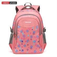 Magic union kinder rucksack in der grundschule rucksäcke kinder schultaschen für mädchen jungen taschen wasserdichte tasche marke design