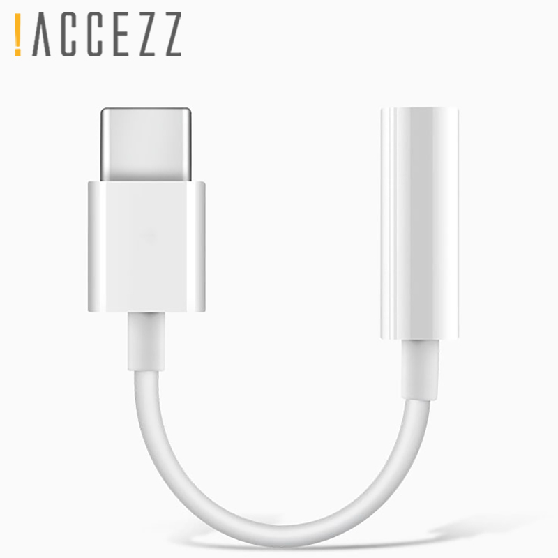 !ACCEZZ USB Type C To 3.5mm Audio Adapter For Huawei Mate 10 Pro Xiaomi 6 <font><b>5</b></font> Mix 2 Calling Listening Earphone Connector Aux Cable image