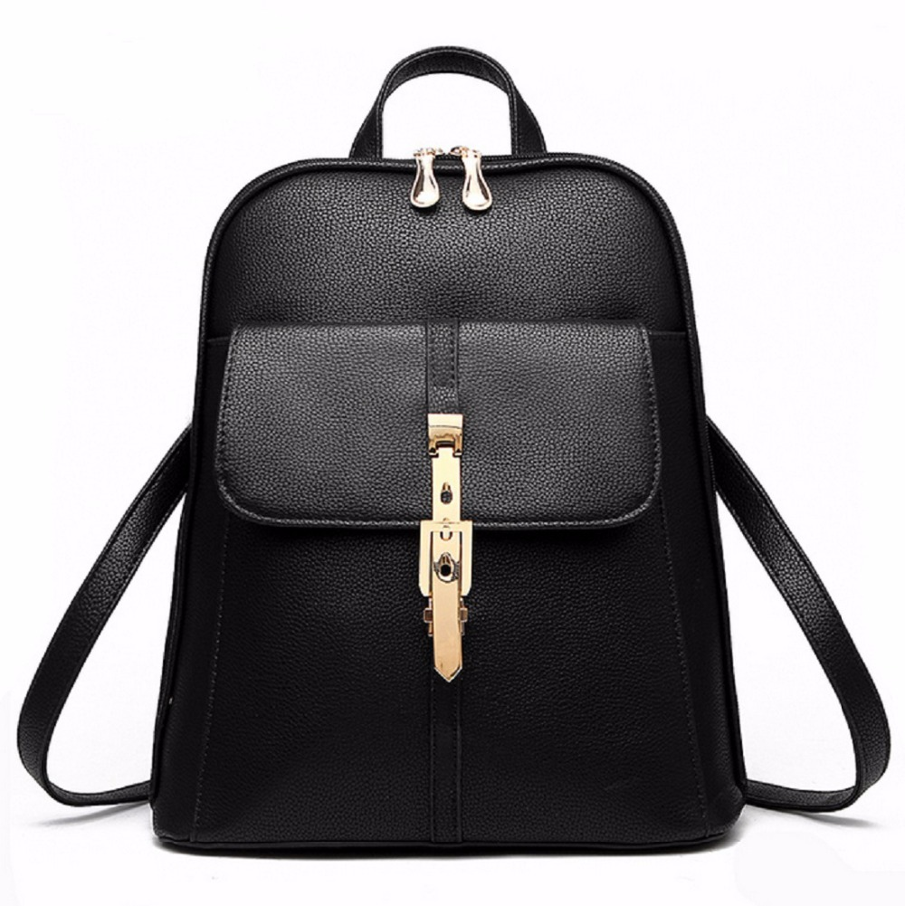 2016 backpacks women backpack school bags students ladies women's travel Pu leather package