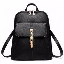 2016 sacs à dos femmes sac à dos sacs d'école étudiants sac à dos dames de femmes voyage sacs Pu en cuir paquet