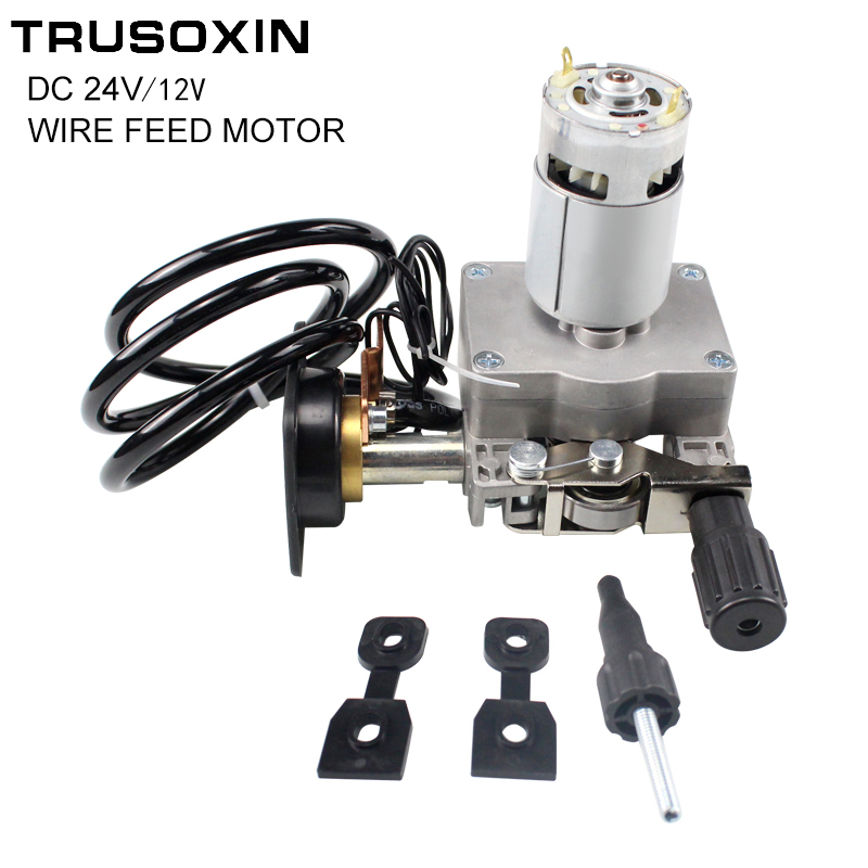 Welding Machine Accessories DC12V/24V Wire Feed Assembly Wire Feeder Motor MIG Welding Machine Welder Euro Connector MIG-160 professional 24v 0 6 0 8mm ssj 29a wire feed assembly wire feeder motor mig mag welding machine welder euro connector mig 160