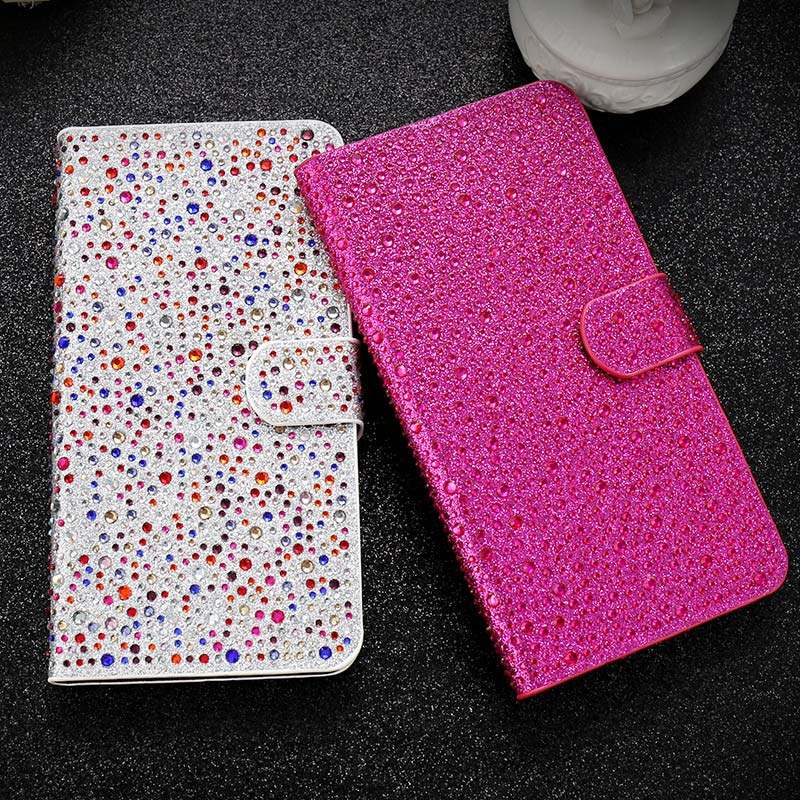 Fashion Luxury Glitter Diamond Wallet Case For iPhone 6 6s 7 Plus PU Leather Cover For iPhone 7 6 6s Plus Shiny Phone Cases Capa