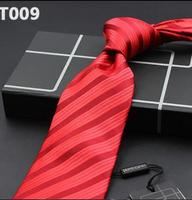 Men's Tie Silk Big red men's wedding tie Cravate pour homme