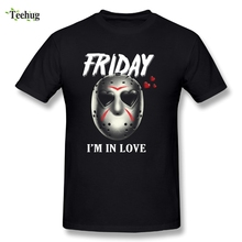 Friday The 13th T shir Quality Jason Love Shirt Comfortable T-Shirts Nice Short-sleeved  Round Neck Tee