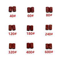 100 шт шлифовальных лент для ногтей, аксессуары для дрели, электрические сверла, наждачная ткань, многоразовые Шлифовальные рукава, сменные 6,35 12,7