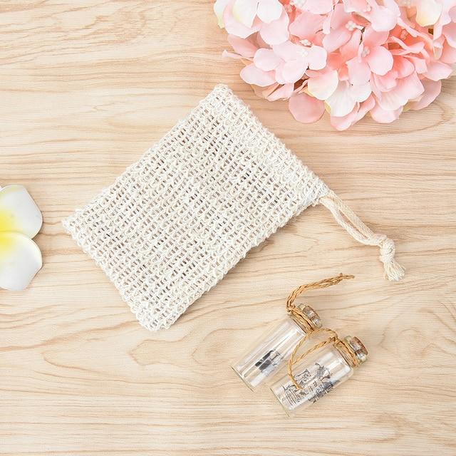1 bolsa protectora de jabón de baño bolsa de malla Durablel bolsa de jabón de ducha de Sisal Natural