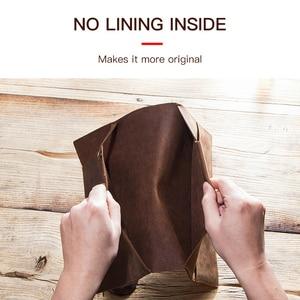 Image 4 - Retro Genuine Leather Laptop Notebook Case For Apple MacBook Retina Carry 12 inch Men Business Laptop Bag Computer Sleeve Pocket