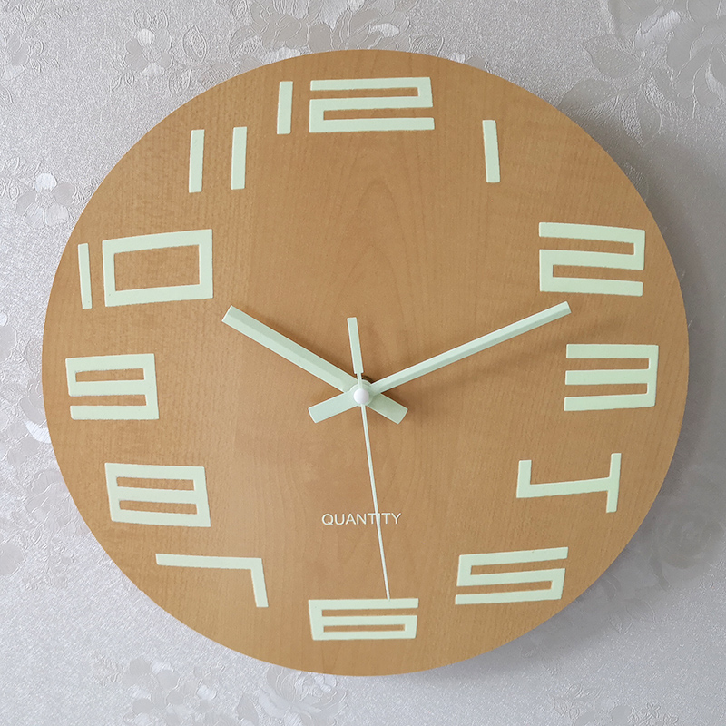 30Cm Silent Luminous Clock Wall Clock Bedroom Home Creative Simple Living Room Atmosphere Decoration Battery Round Wall Clock