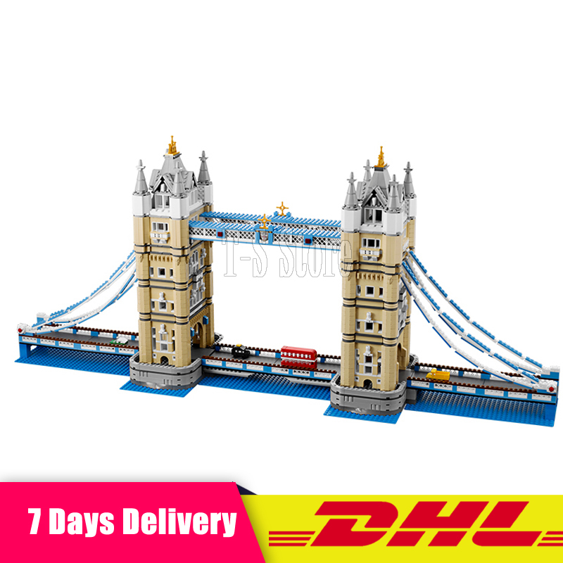 DHL LEPIN IN STOCK Free Shipping 17004 4295pcs London bridge Model Building Kits Brick lepin DIY Toys Compatible 10214 Gifts in stock new lepin 17004 city street series london bridge model building kits assembling brick toys compatible 10214