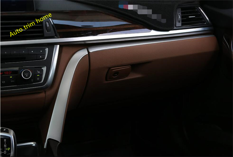 For BMW 3 Series F30 316i 320i 328i 2013 - 2017 Co-pilot Central Control Instrument Lid Decoration Molding Garnish Cover Trim