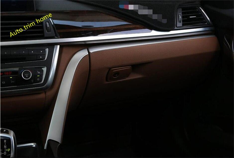 For BMW 3 Series F30 316i 320i 328i 2013 2017 Co pilot Central Control Instrument Lid Decoration Molding Garnish Cover Trim