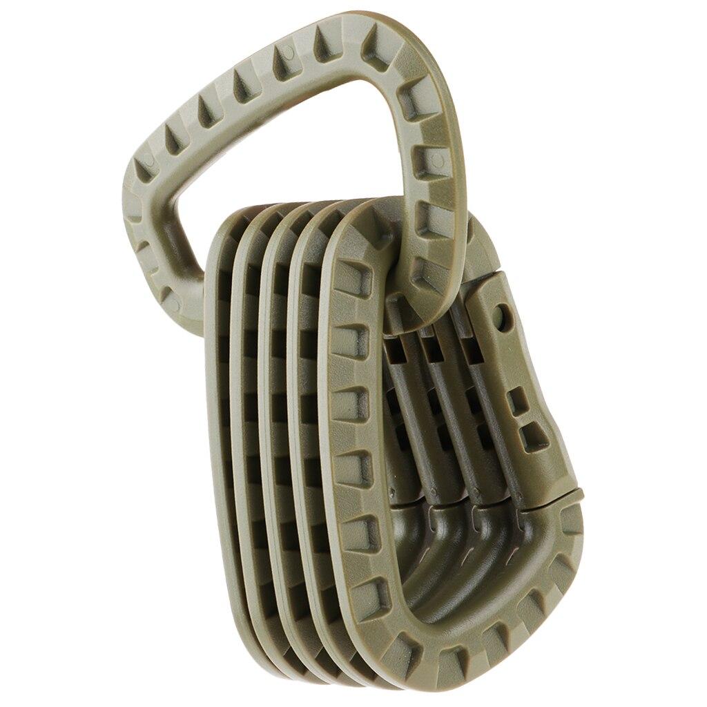 Image 4 - 6Pcs Tactical D Shape Carabiner Keychain Carabina Karabiner Clip Plastic Cadet Hiking Camping Climbing Accessories-in Climbing Accessories from Sports & Entertainment