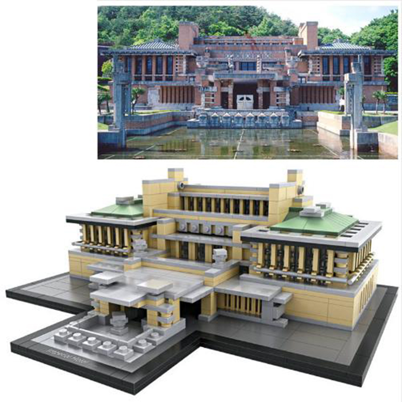 LOZ World Famous Architecture Japan The Imperial Hotel Tokyo Mini 3D Model Building Blocks DIY Assembly Bricks Toys for Children mr froger loz taipei 101 tower diamond block world famous architecture series minifigures building blocks classic toys children