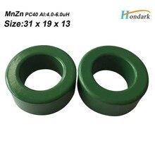 Interno 19 millimetri balun bead 31X19X13mm Al 4.0-6.0uH trasformatore a nucleo di ferrite isolatore di ferrite anello RF choke bead MnZn, 100 pz/lotto