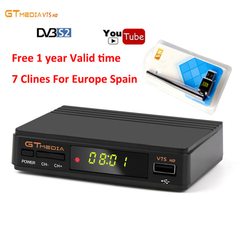 1 Year Europe Clines Server Gtmedia v7 Upgrade Digital Satellite font b TV b font font