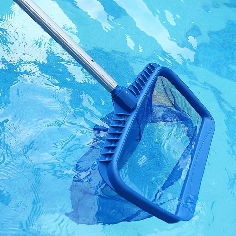 US $4.41 |New Arrival Professional Blue Plastic Leaf Rake Mesh Net Skimmer  Clean Swimming Pool Tool Leaf Skimmer Net-in Cleaning Tools from Home & ...