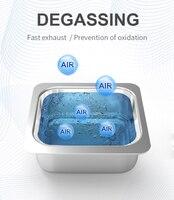 800мл бытовая цифровая ультразвуковая очистка 60Вт ванна из нержавеющей стали 110В 220В Дега ультразвуковая очистка для часов ювелирные изделия