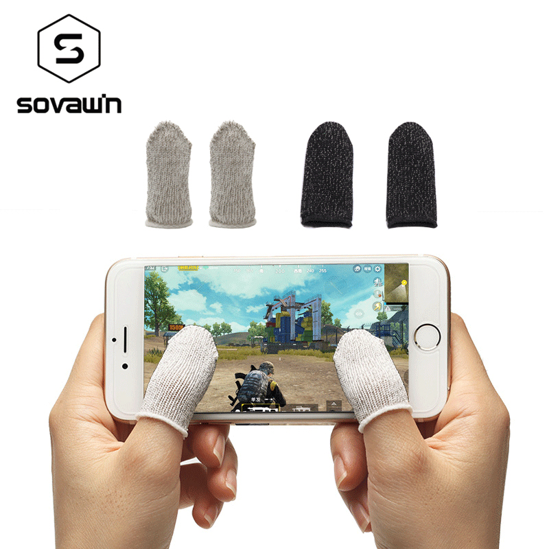 Fingertip Sweatproof Cover Pubg Touch Screen Phone Game BUBG Gamepad Controller Knitting Yarn Fingertip Non Slip Touchable Luvas