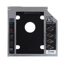 Aleación de magnesio segunda 9.5mm SATA HDD DISCO Duro SSD Caddy Bay para Mac Book pro unidad de disco duro Portátil bahía