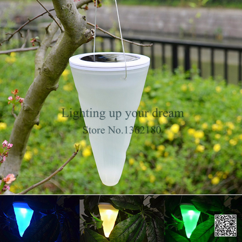 Hanging solar patio lights - New Solar Led Hanging Lights Color Changing Balcony Garden Outdoor Chandelier Decorative Lights Yard Camping Lamp