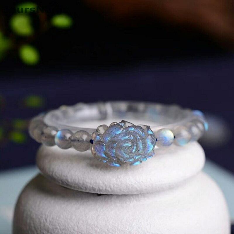 Женские браслеты JoursNeige, круглые бусины из натурального камня с цветком, браслет с кристаллами, опт|natural stone bracelet|stone braceletbracelet beads | АлиЭкспресс