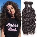Curly brasileiro Virgem Cabelo Natural Wave 3 Bundles Wet e Ondulado Virgem Cabelo Brasileiro Weave Brasileiro Encaracolado Feixes de Cabelo Humano