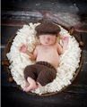free shipping,Baby Crochet newsboy Hat with matching coffee pants baby sets,newborn Photography Prop 100% cotton