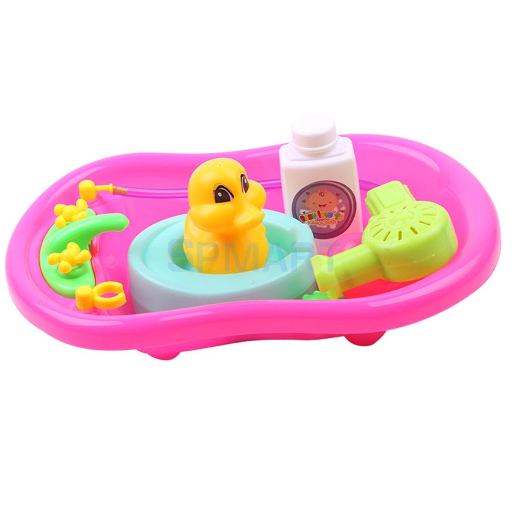Kid Baby Toddler Happy Bathtub Childhood Pretend Play Game Bath Water Forgs Duck Toys Educational Red