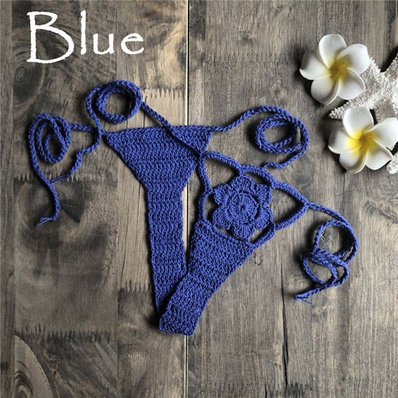 Beach Thong Crochet G-String Hot <font><b>Brazilian</b></font> Ladies <font><b>Sex</b></font> <font><b>Bikini</b></font> Bottom Swimsuit Swimwear Bathing Suit Shorts image
