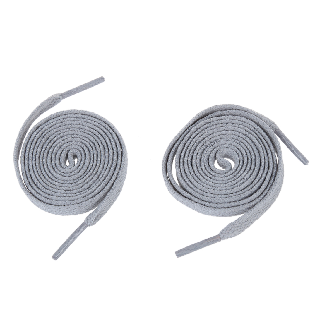 2018 Hot StyleNew 2pcs Trainers Plastic Tips 52.4 Long Grey Flat Wide Shoe Laces Strings vsen pair sneakers trainers flat shoe laces 0 4 wide strings red