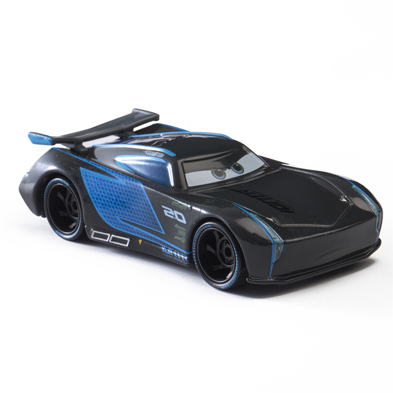Disney Pixar Cars 3 Lightning McQueen Blue Jackson Storm Mater 1:55 Diecast Metal Alloy Model Car Toy Children Gift Boys