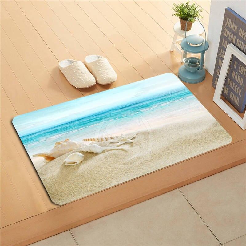 Decorative Shower Mats : V custom the beach sea shells doormat home decor door