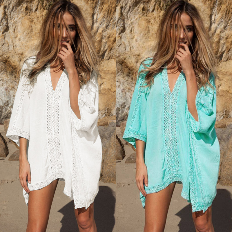 Conscientious Summer Vacation 2019 Best Selling Explosions Cotton Side Beach Blouse Bikini Blouse Beach Swimsuit Outerwear Bikini Cover-ups Can Be Repeatedly Remolded. Blouses & Shirts