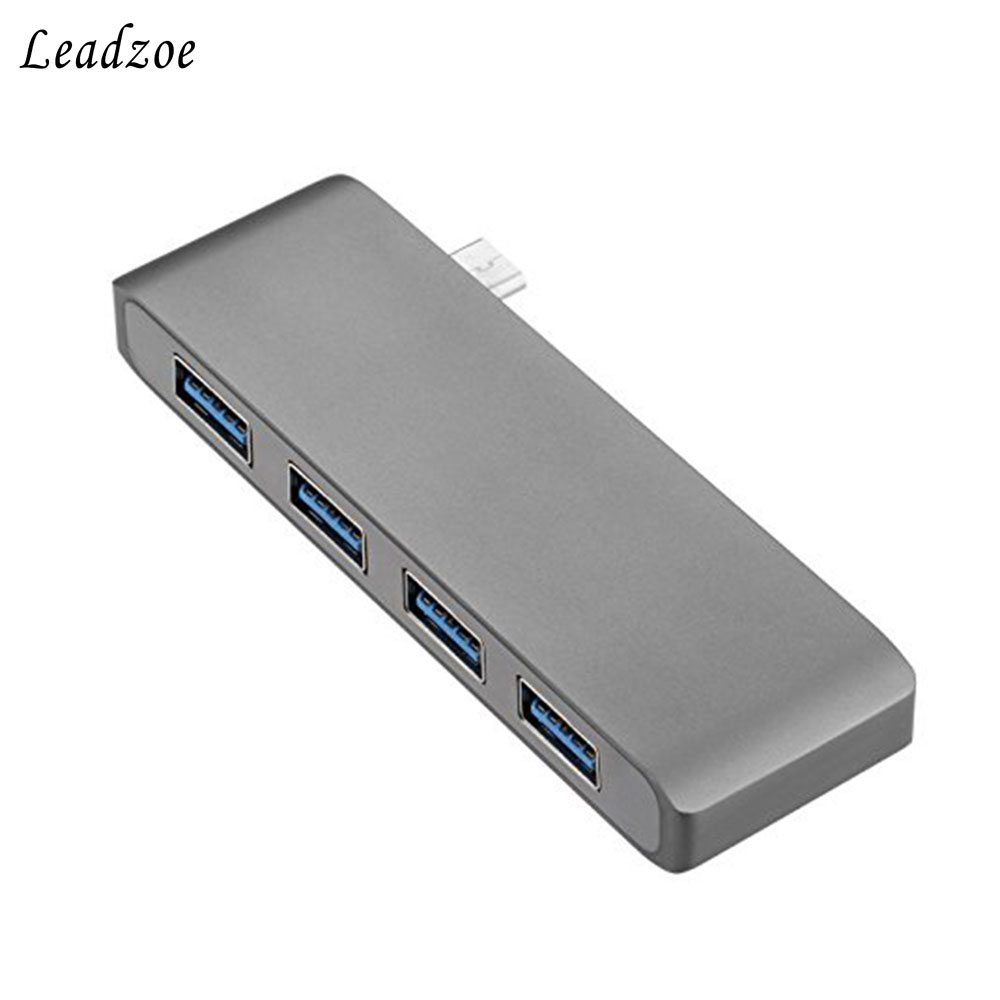 Leadzoe Type C Hub 4 in 1 USB type C Hub Adapter with 4 USB 3.0 ports transmissionport with High-speed for MacBook Pro pro