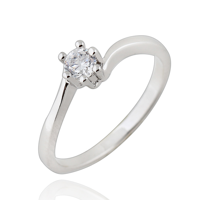 Partido al por mayor joyería de moda blanco de oro de color blanco cristal  austriaco rouns regalo del anillo mujeres envío libre tamaño 6 7 8 9 fc2913000827