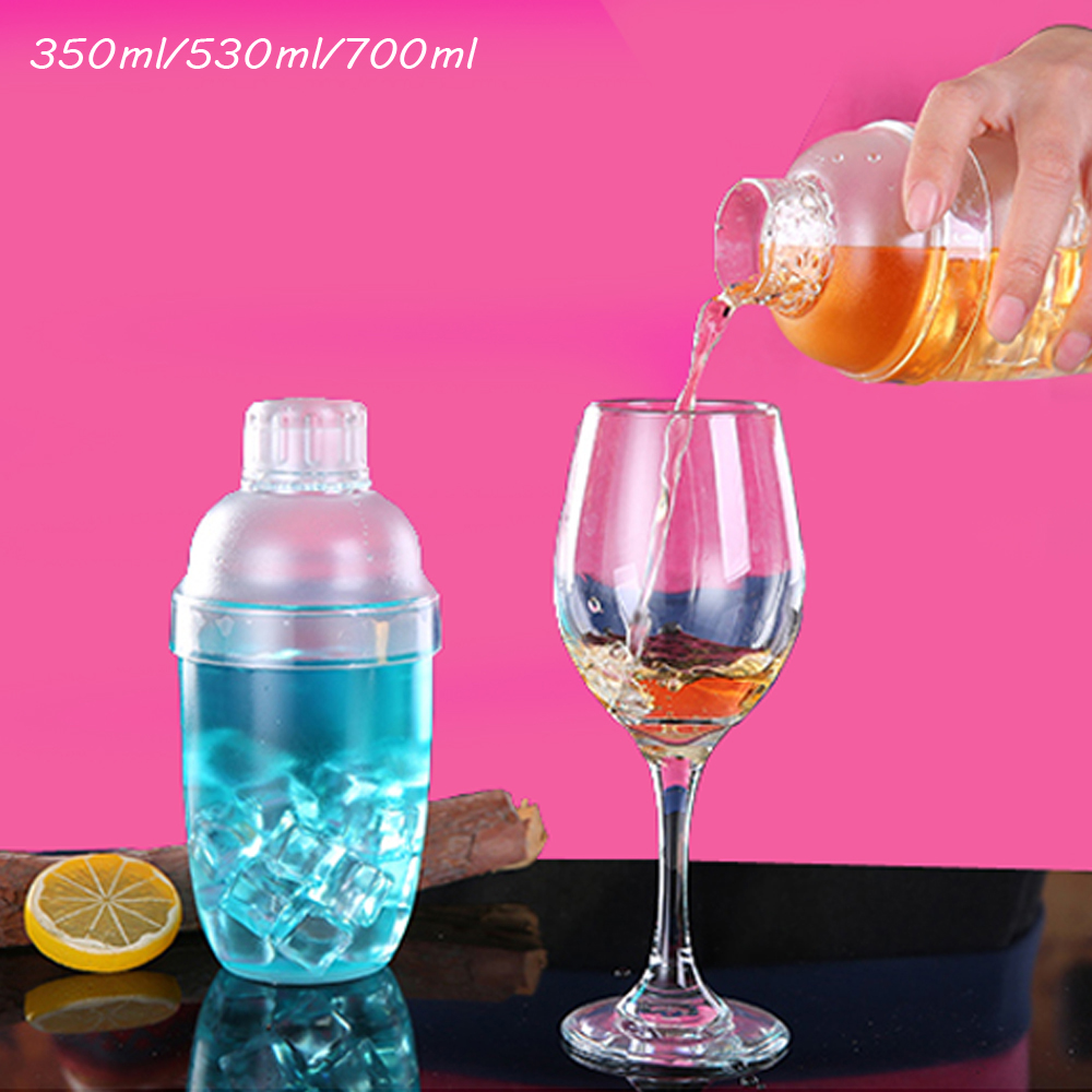 Shaker de Cocktail Transparent Plastique 9