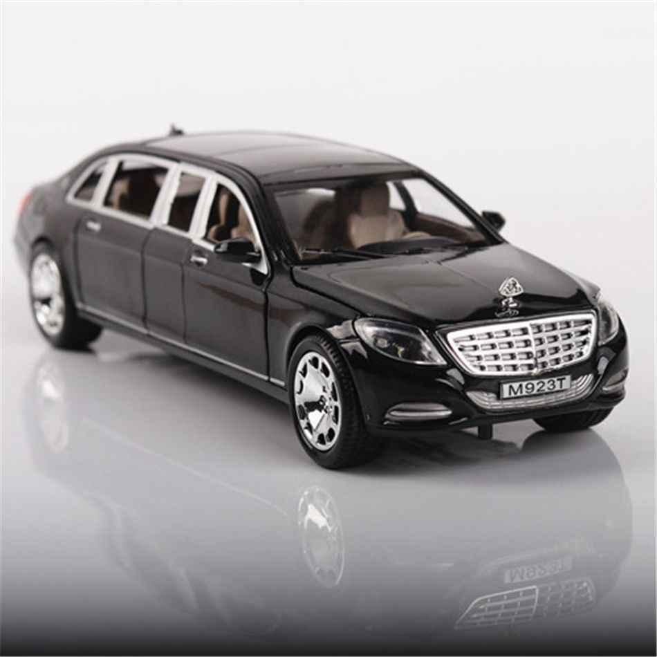 1/24 Maybach S600 металлическая модель автомобиля литой под давлением сплав высокая имитация, модели автомобилей 6 дверей можно открыть инерционные игрушки для детей Difts