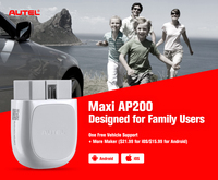 Autel AP200 OBD2 Scanner Bluetooth Auto Code Reader Full Systems Diagnoses AutoVIN TPMS IMMO Service for Family DIYers PK Mk808