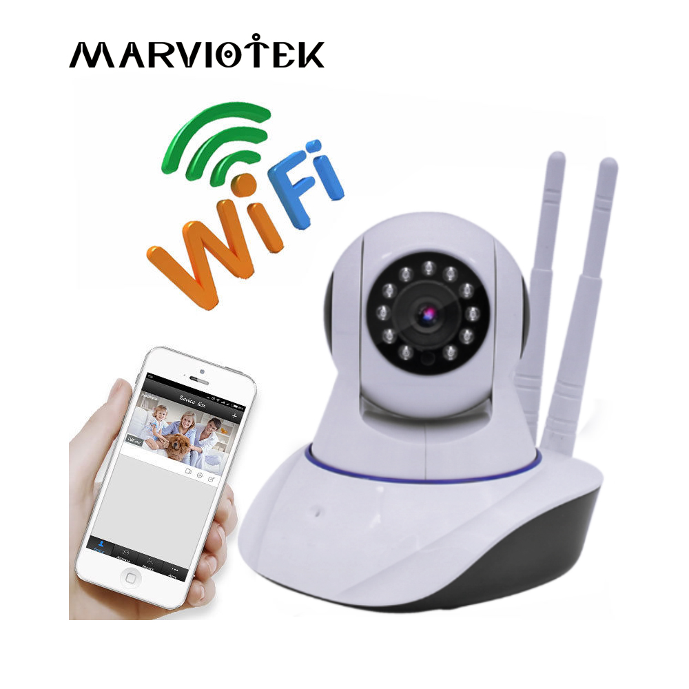 MARVIOTEK Wireless IP Camera Wifi P2P Video Surveillance CCTV Camera 1080P Baby Monitor Home Security Audio Record SD Card SlotMARVIOTEK Wireless IP Camera Wifi P2P Video Surveillance CCTV Camera 1080P Baby Monitor Home Security Audio Record SD Card Slot