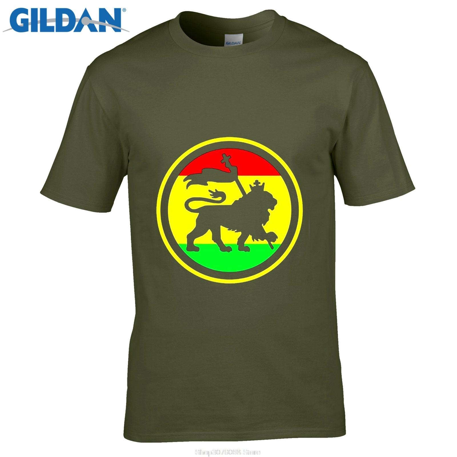 Design t shirt price - Gildan Designer T Shirtlowest Price Printe Design Graphic T Shirts Rasta Lion Judah Crew Neck Men