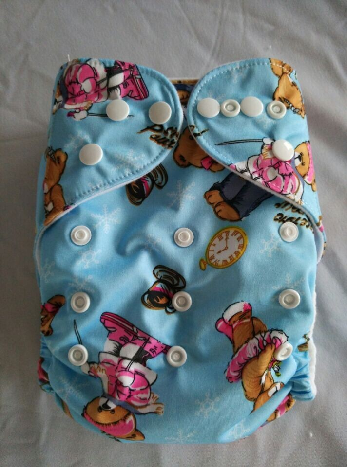 Baby New Design Reuseable Washable Pocket Cloth Diaper Nappy 2 Insert Free Shipping 50 diapers 100