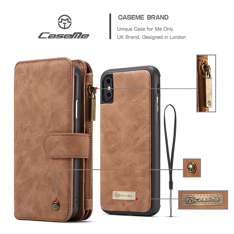For Apple iphone X Wallet Case Luxury Flip Leather Retro Phone Protective Magnetic Coque for iphoneX 10 Men Women Accessories